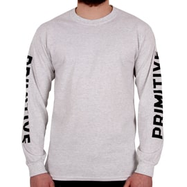 Primitive Block Long Sleeve T shirt - Ice Heather