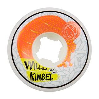 OJ Hard Line Kimbel Sushi Skateboard Wheels - White 56mm 101a