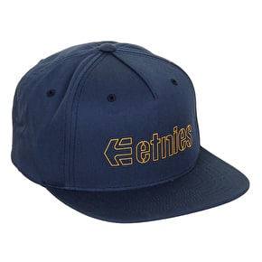 Etnies Corporate 5 Snapback Cap - Navy/Gold