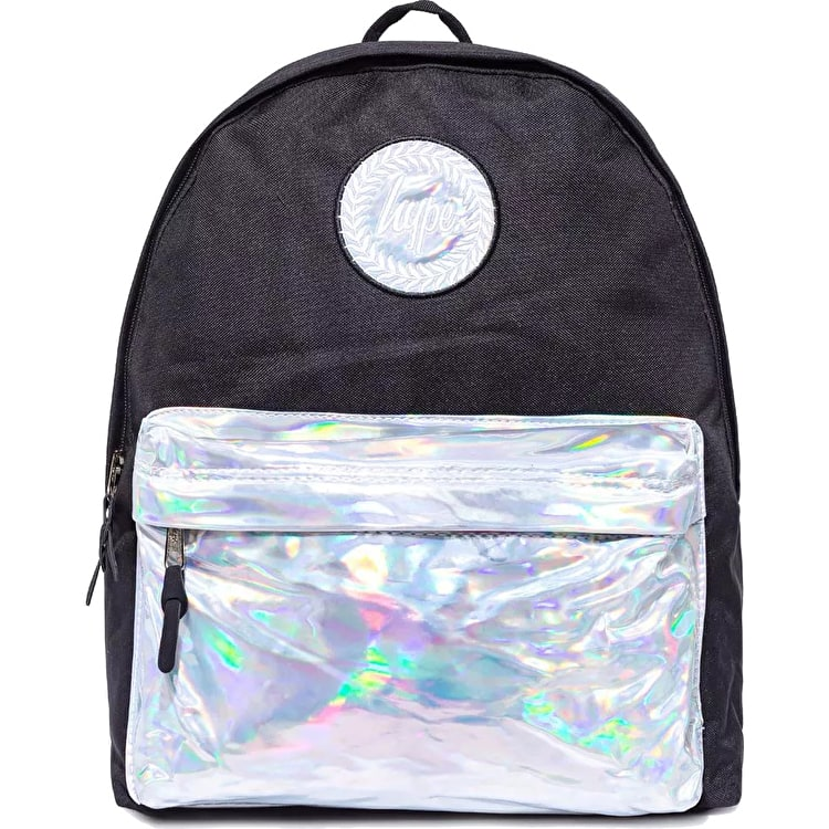 Hype Holo Pocket Backpack - Black/Silver