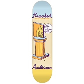 Krooked Skateboard Deck - Prize Fighter Anderson Yellow 8.25