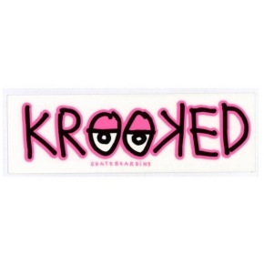 Krooked Eyes Skateboard Sticker - M (Pack of 2)