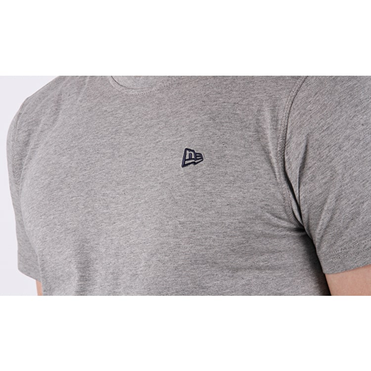 New Era Premium Classic Clubroom T shirt - Light Heather Grey