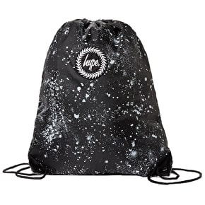 Hype Drawstring Gym Bag - Black/White Speckle
