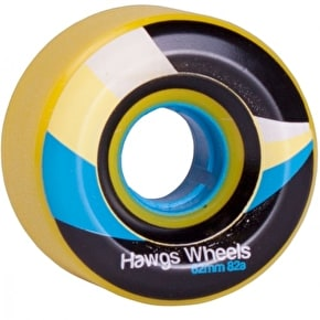 Hawgs Street Longboard Wheels - Yellow 62mm 82a (Pack of 4)