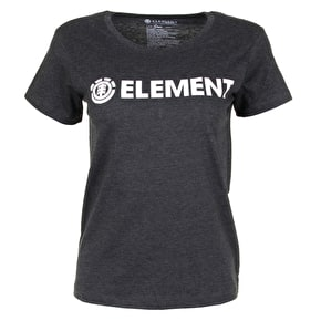 Element Logo Womens T-Shirt - Off Black