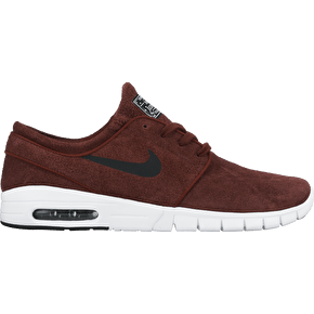 Nike SB Stefan Janoski Max Suede Shoes - Team Red/Black