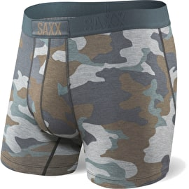 Saxx Vibe Boxers - Grey Supersize Camo