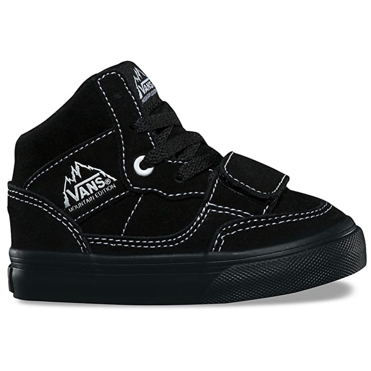 Vans Mountain Edition Toddler High Top Skate Shoes - (Suede) Black/Black