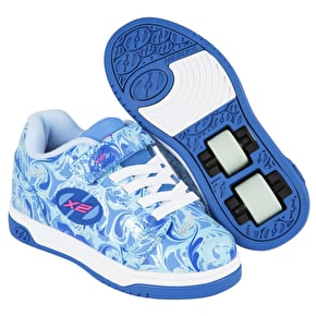 Heelys X2 Dual Up - Solid Blue/Multi/Marble