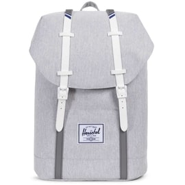 Herschel Retreat Backpack - Light Grey Crosshatch/White