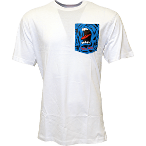Santa Cruz Screaming Hand Pocket T-Shirt - White