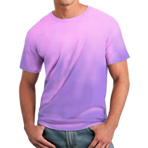 Global Technacolour T-Shirt - Purple into Pink