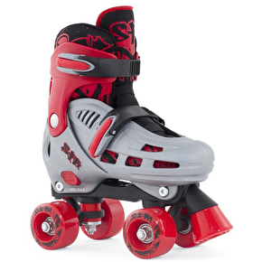 SFR Hurricane Adjustable Quad Roller skates - Red