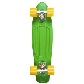 D-Street Retro V2 Complete Skateboard - Green/Yellow