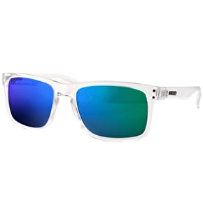 Carve Goblin Sunglasses - Clear/Green Revo