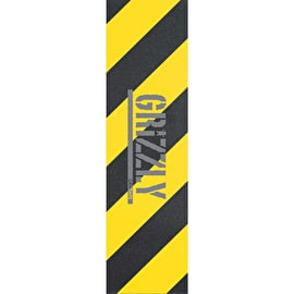 Grizzly Hazard Skateboard Grip Tape - Yellow
