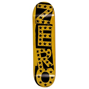 Zero Punk Stars Skateboard Deck - Black/Yellow 8.25