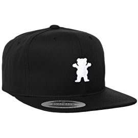 Grizzly Youth OG Bear Snapback Cap - Black