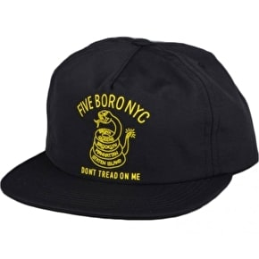 5Boro Dont Tread Snapback Cap - Black