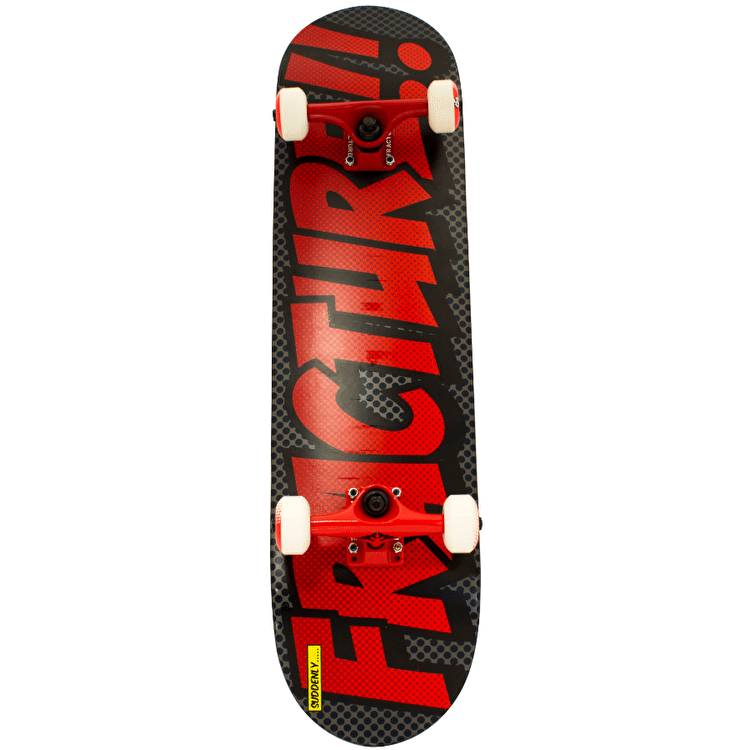 Fracture Comic 3 Skateboard - Grey/Red 7.875""