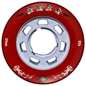 Atom G-Rod 59mm X-Slim Quad Derby Wheels 93A (4pk) Red (B-Stock)