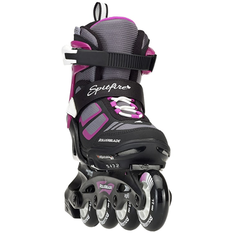 Rollerblade 2018 Spitfire Adjustable Inline Skates - Black/Purple