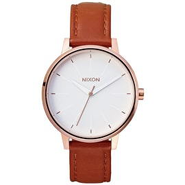 Nixon Kensington Womens Leather Watch - Rose Gold