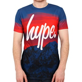Hype Night Rise T Shirt - Blue/Red
