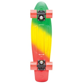 Penny Fades Complete Skateboard - Green/Yellow/Red 22