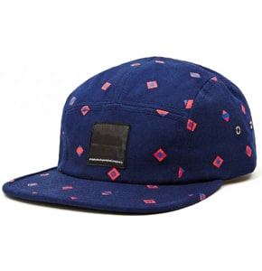 WeSC Medallion 5 Panel Cap - Blue Depths