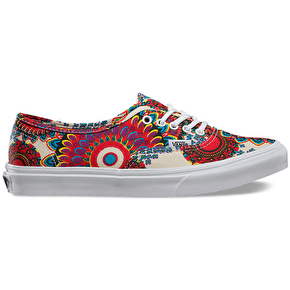 Vans Authentic Slim Shoes - (Geo Floral) Magenta/True White
