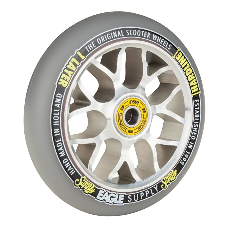 Eagle 110mm Hardline 1-Layer X6 Sewercap Scooter Wheel - Grey/Silver