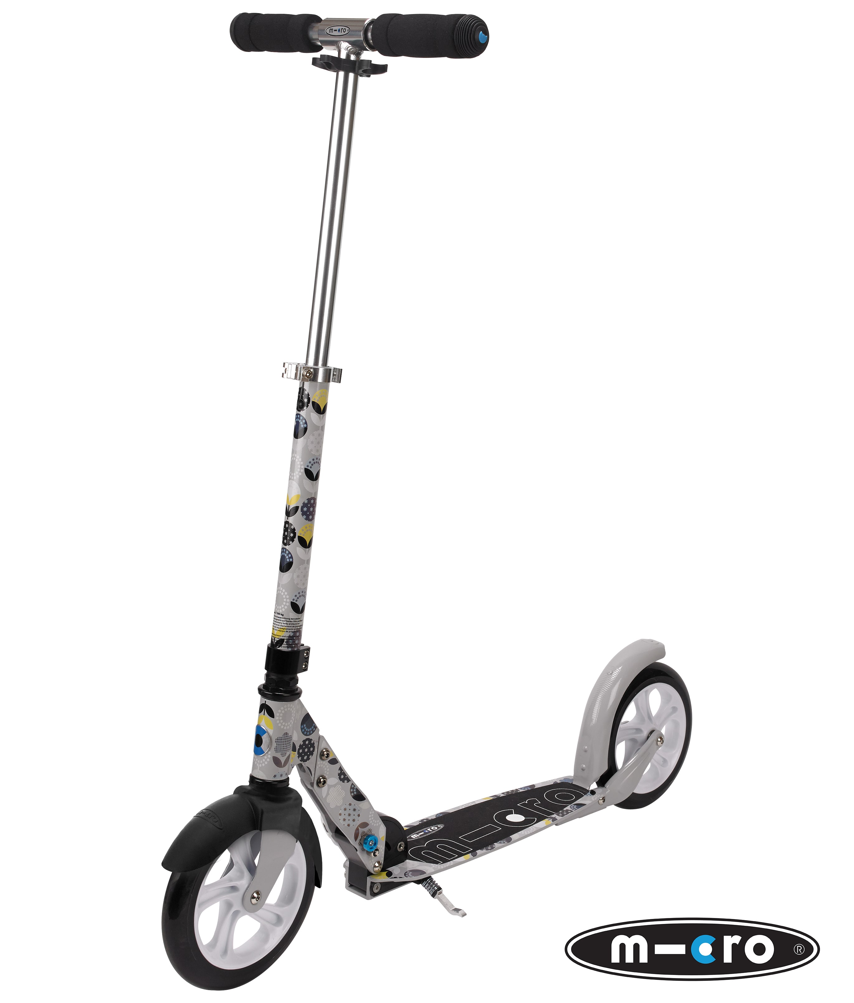 micro adult 39 s scooter floral grey complete scooters. Black Bedroom Furniture Sets. Home Design Ideas