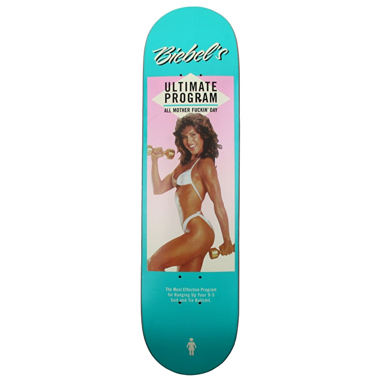 Girl Couch Potatoes Skateboard Deck - Biebel 8""