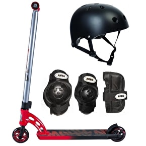 MGP VX7 Pro Black/Red Scooter Bundle