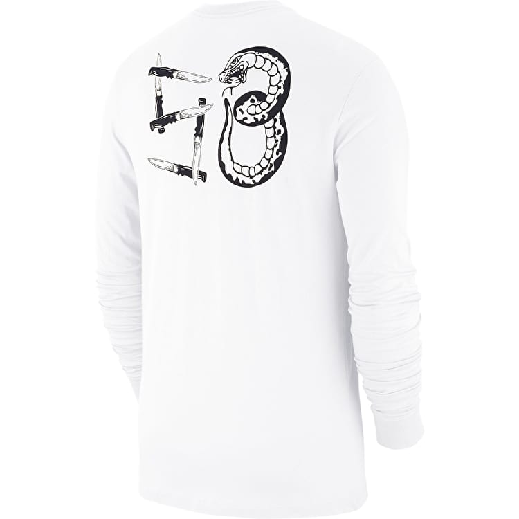 Nike SB Snake Long Sleeve T Shirt - White/Black