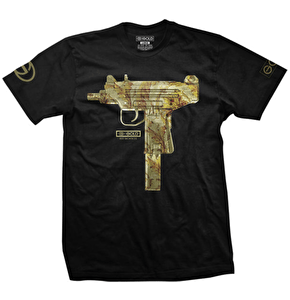 Gold T-Shirt - Uzi Black