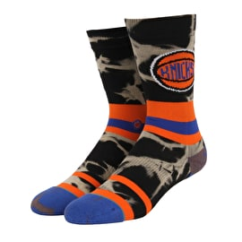 Stance NBA - Knicks Acid Wash Socks - Orange