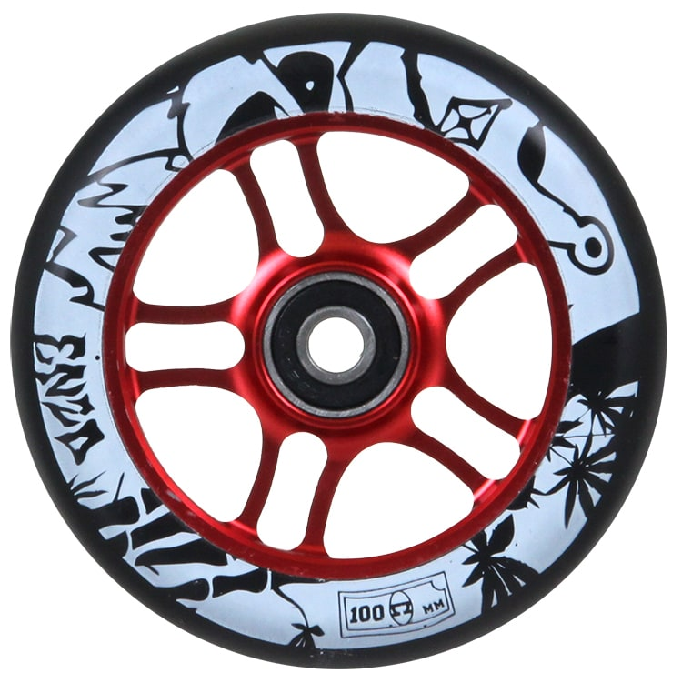 Image of AO 100mm Enzo Scooter Wheel - Red