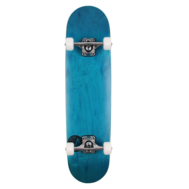 Mini Logo Chevron Stamp Complete Skateboard - Dyed Blue