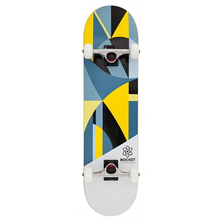 Rocket Eclipse Series Complete Skateboard - Grey/Yellow 8""