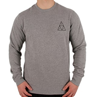 Huf Triple Triangle Crewneck - Grey Heather
