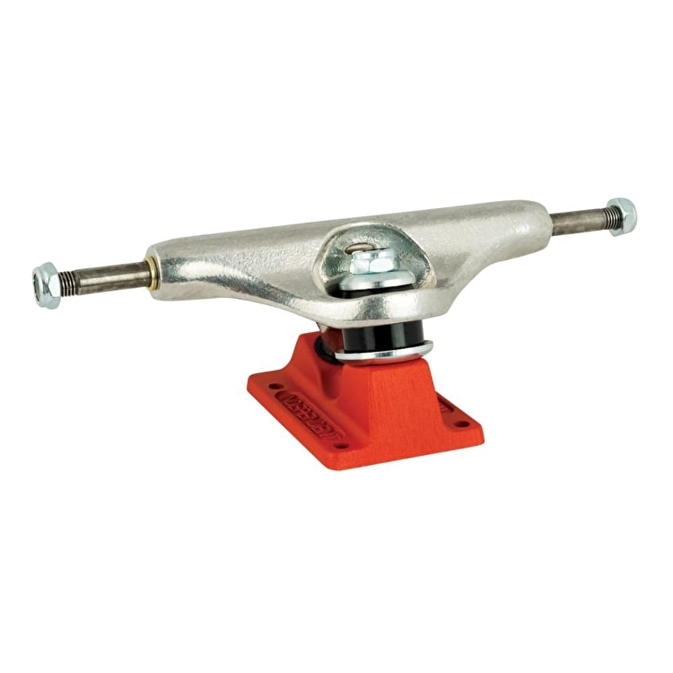 Independent Stage 11 Bar Cross Skateboard Trucks - Silver/Red