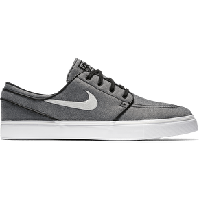 Nike SB Zoom Stefan Janoski Canvas Skate Shoes - Black/Sail