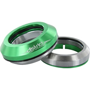 District Integrated Anodised Threadless Headset - Green