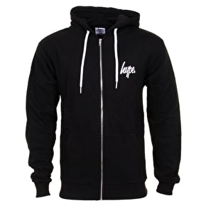 Hype Breast Mini Script Zip Hoodie - Black/White
