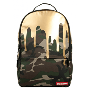 Sprayground Camo Gold Drips Backpack