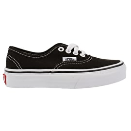 Vans Authentic Kids Skate Shoes - Black/True White