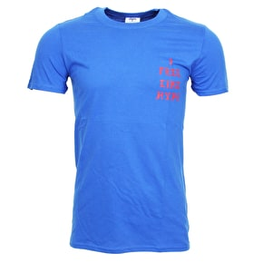Hype X Urban Decay I Feel Like Hype T-Shirt - Blue/Red